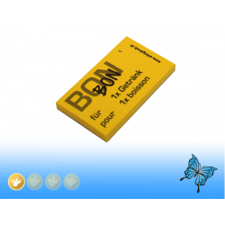 Gutschein-Blocks gelb