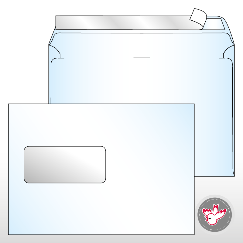 Hervorragend Kuvert B5 Standard Fenster links CI63