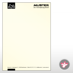 Briefpapier, 1/0-farbig,...
