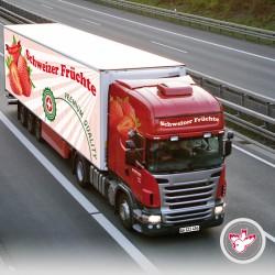 Lastwagen Festaufbau Früchte