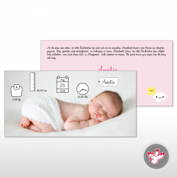 Baby Geburt Zeit Gewicht Grösse Name Wolke Stern Rosa birth time weight length name cloud star rose