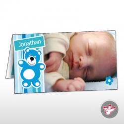 Baby Junge Blau Teddybär Blume Jonathan boy blue teddy flower