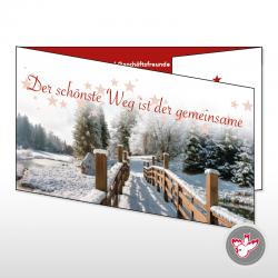 Weihachten See Sterne Tannen Schnee Brücke Christmas holidays tree snow bridge star