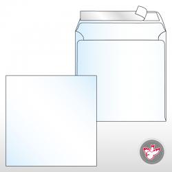 Kuvert quadratisch, Standard