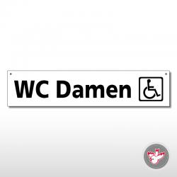 Miettafeln, WC Damen Rollstuhl