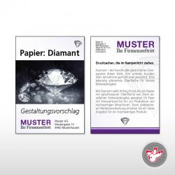 Flyer A7, 4/4 Diamant 300 g/m²