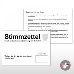 Stimmzettel A6, 1/1 weiss