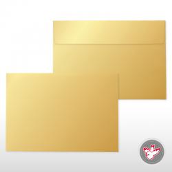 Kuvert Perlglanz gold, C5, FSC