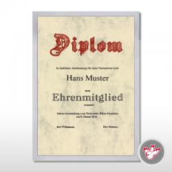 Nilsen, Bilderrahmen, Diplome, Urkunde