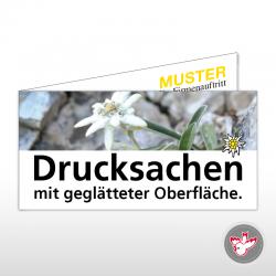 Falzkarte drucken, Witzig Druck AG