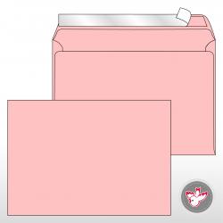 Kuvert C5, Regenbogen rosa,...