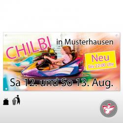 Banner kurzfristige Werbung...