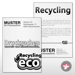 Flyer A4, 1/1 Recycling 80...
