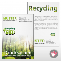 Flyer A4, 4/4 Recycling 80...