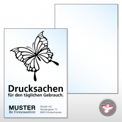 Flugblatt, Flyer A4, 1/0...