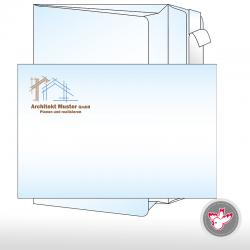Kuvert Seitenfalten, B4, C4, Haftklebeverschluss, bedruckt, FSC