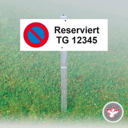 Parkschild, Parkverbot, Reserviert, Parktafeln, Witzig Druck AG