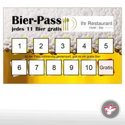 Bierpass, Kaffeepass, Cafepass, Pizza-Pass, Pizzapass