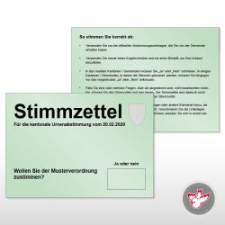 Stimmzettel drucken, Witzig Druck AG