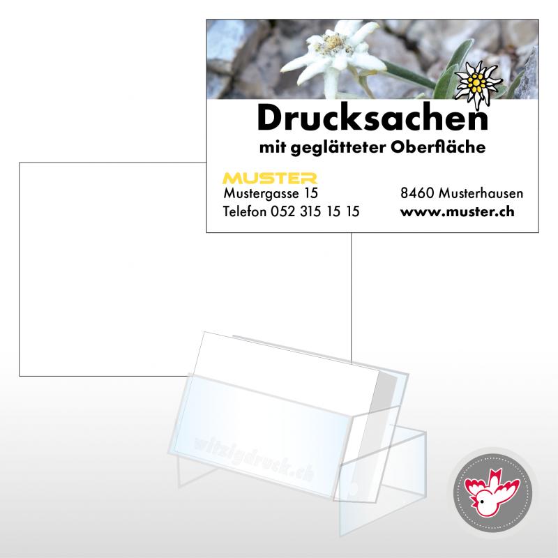 Visitenkarten, Edelweiss, Witzig Druck AG