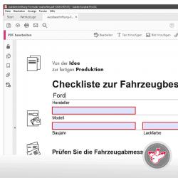 Adobe PDF, zum ausfüllen, beschreibbares PDF, Vertrag, Garantieschein.