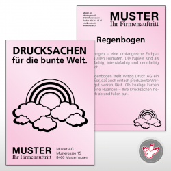 Flyer pink, Witzig Druck AG