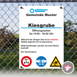 Tafel Kiesgrube drucken, Witzig Druck AG
