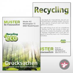 Flyer Umweltschutz drucken, Witzig Druck AG