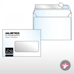 Kuvert C6 Standard 1/0-farbig