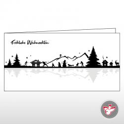 Scherenschnitt Weihnachten Landschaft Appenzell