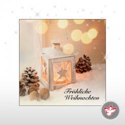 Weihnachten Tannenzapfen Schnee Advent hell friedlich besinnlich Kerze Laterne Licht Christmas holidays