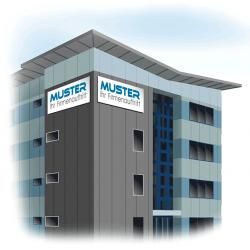 Beschriftung, Firmen, Gebäude