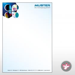 Briefpapier, 4/0-farbig,...