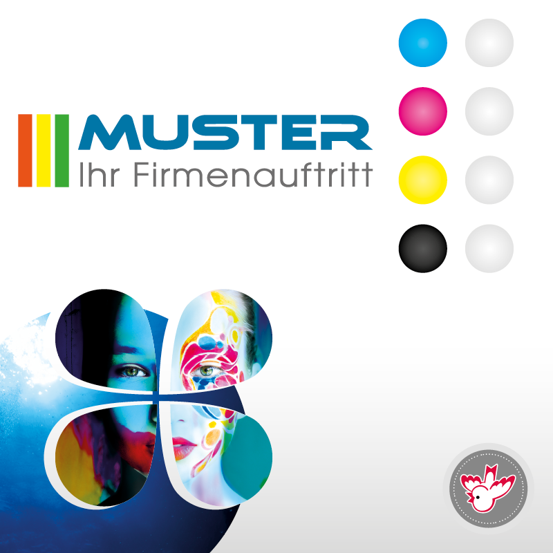 4/0-farbig Bilderdruck