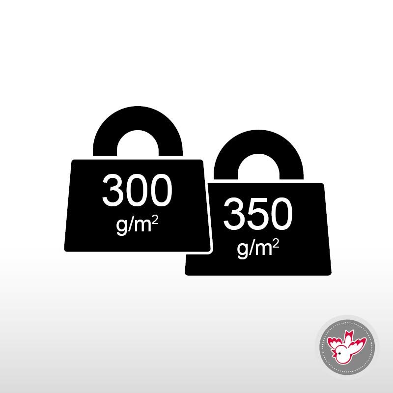 300 - 350 g/m², FSC