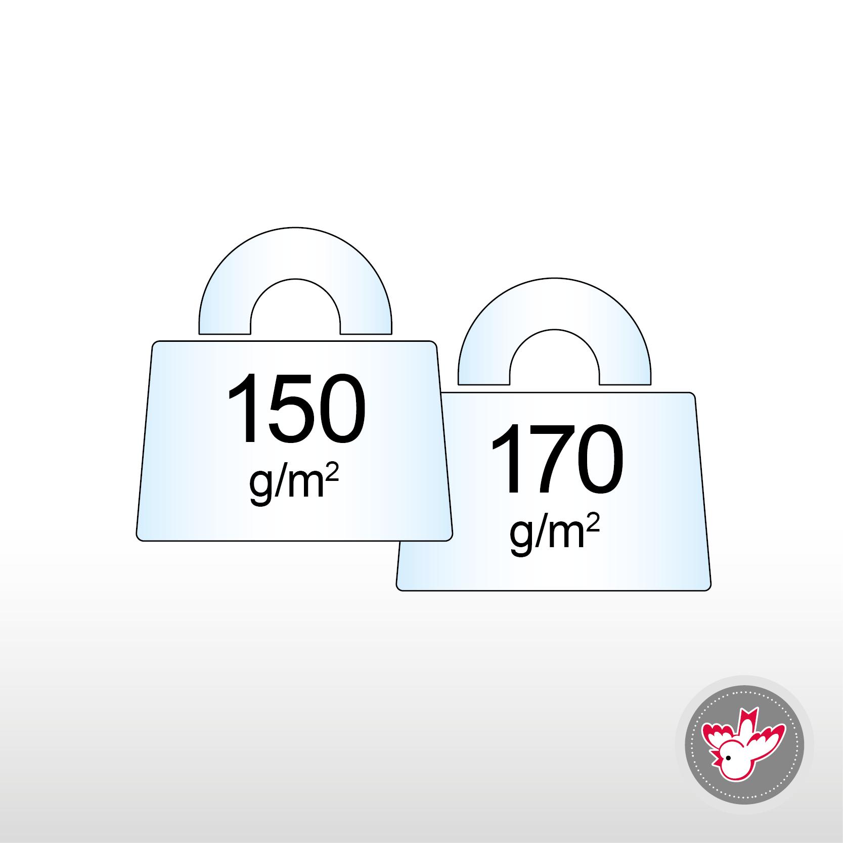 150 - 170 g/m², FSC