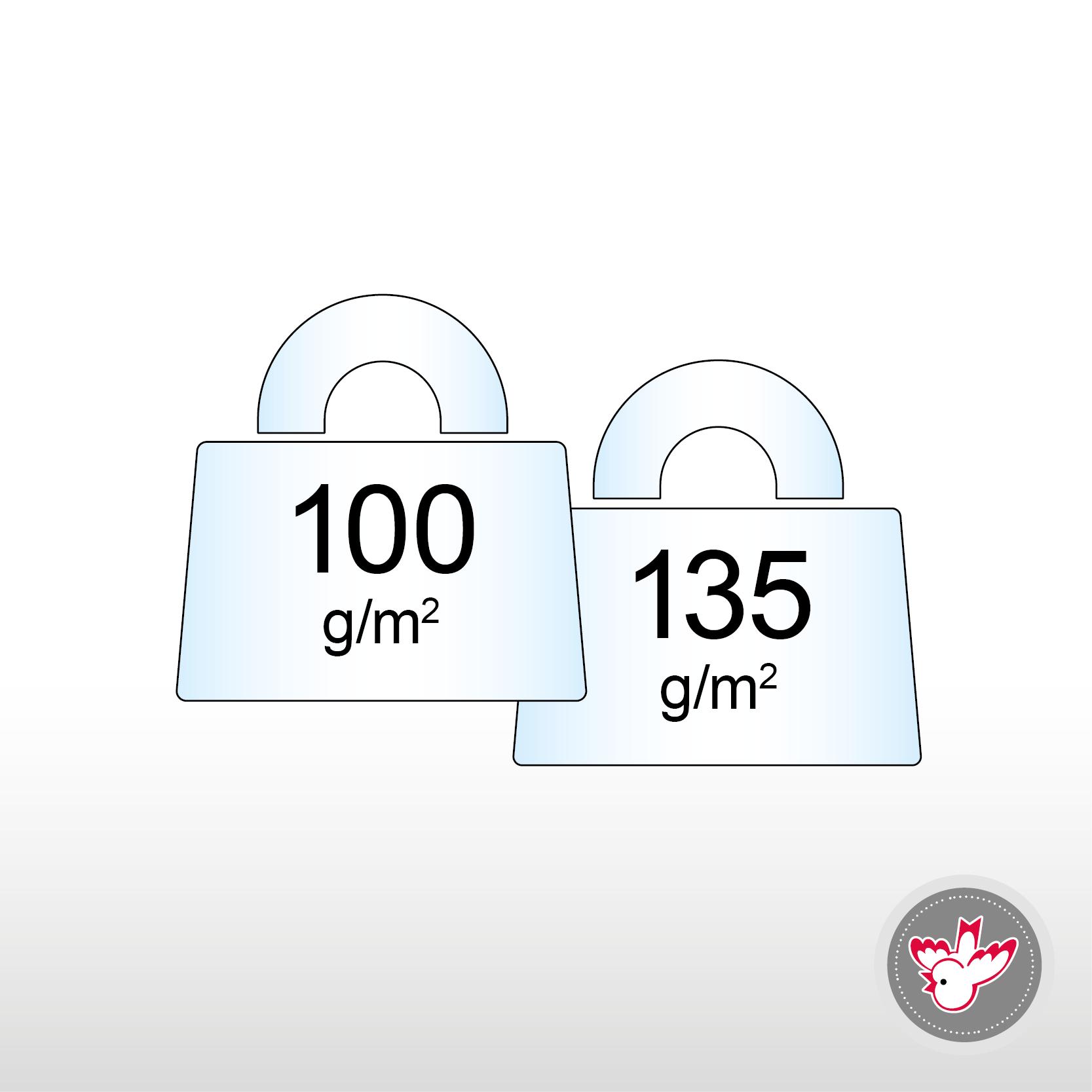 100 - 135 g/m², FSC